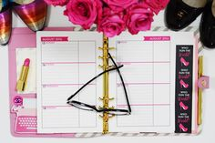 Paper & Glam - The Glam Planner 2016 - Horizontal Weekly