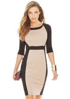 This one has become a for sure fav in my personal fall wardrobe. Lila Color Block Sheath - Dresses - Clothing - Alloy Apparel