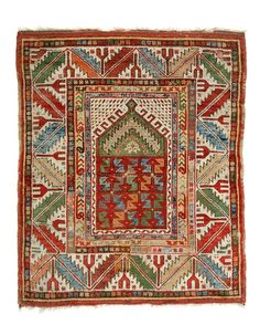 Melas prayer rug 4ft. 1in. x 3ft. 7in. Turkey circa 1850