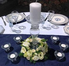 Candlestick decoration Candlesticks, Table Settings, Table Decorations, Floral, Flowers, Inspiration, Furniture, Home Decor, Candle Holders