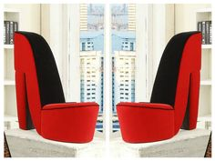 High-Heel-Chair-Shoe-Stiletto-Red-Bedroom-Home-Accent-Furniture-Seat-Modern-Side
