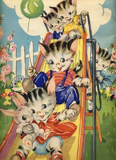 back cover of Ruth Newton's 1948 Baby Kittens picture book