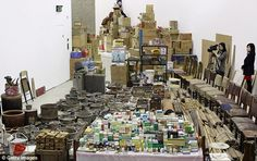 Chinese artist Song Dong has scooped up five decades of his mother's clutter and is showcasing it at a London exhibition called Waste Not.     All 10,000 items are on display at the Barbican's Curve Gallery to illustrate the strong bonds between family members and how the power of objects tell stories and shape lives.