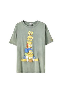 Simpsons T Shirt, The Simpsons, Blusas Oversized, Simpsons Characters, Pull N Bear, Green Shorts, Tween, Lingerie, My Style