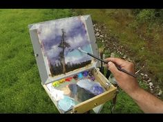 Plein Air Painting Demo - Scots pine Tree