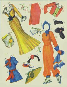 Artist Models paper Dolls (AKA Pin Up Girls), 1945 Saalfield #2489 (4 of 10)