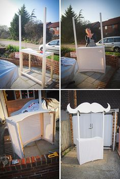 Got a handy hubbie-to-be? Get him to craft a personalised photobooth! This tash one is so awesome :)