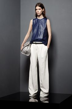 Proenza Schouler Resort 2013 - leather tank, slouchy trousers