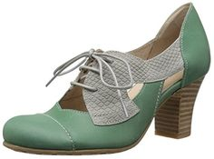 Fidji Women's V557 Oxford, Green/Ivory, 38 EU/8 M US -- See this great image @