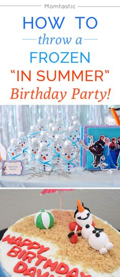 How to throw a Disney's Frozen birthday party in the summer