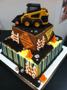 Would also be cute saying CONSTRUCTION and use as a little boys birthday cake.  Birthday Cake Idea - Boy