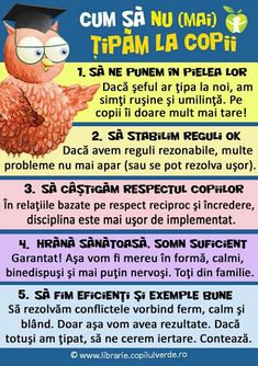 Cum să nu mai țipăm la copii Positive Discipline, School Staff, Emotional Intelligence, Kids Education, My Children, Kids And Parenting, Good To Know, Activities For Kids, Psychology