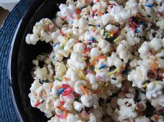 Birthday Cake Batter Popcorn.