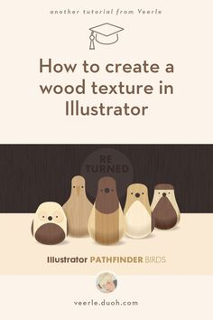// tutorial, wood structure, texture, illustrator, birds // We'll create 2 types of wood textures: one wood grain texture which we will apply on the darker brown, and one wood texture that has these typical curvy lines, which we'll apply on the lighter colors. Both will be turned into seamless patterns in no time, thanks to Illustrator's Pattern Maker feature.