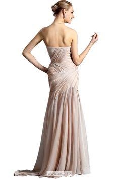 Sexy strapless sweetheart mermaid floor length chiffon dress $138.98