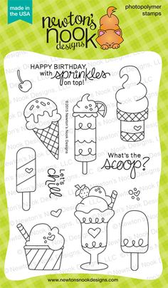 Newton's Nook Designs: July Reveal Day 2 - Summer Scoops Stamp Set!