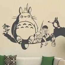 2015 livraison gratuite Creative New bricolage wall art Miyazaki Totoro stickers muraux enfants chambres décoration stickers muraux salon(China (Mainland))