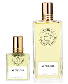 Week-end Eau de Toilette by PARFUMS DE NICOLAI - Italian bergamot, petit grain, galbanum, lily of the valley, rose, mimosa, pepper, pink pepper, clove, oakmoss absolute and styrax balm.