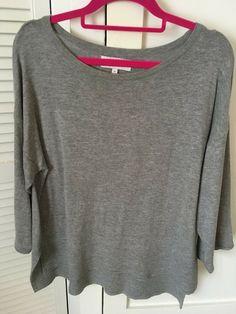 Next Womens/Girls Three quarter length sleeved Grey Top Size 10 #Next