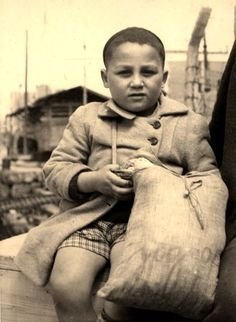 Greece, A child survivor from Saloniki aboard an illegal immigrant ship, 1946.