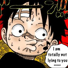 Luffy's a terrible liar | One Piece