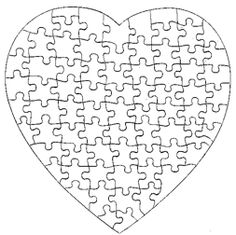 1000 images about puzzle pieces on pinterest student for Puzzle cut out template
