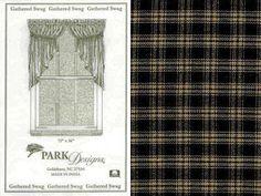 "Jake's Country Trading Post - 315-461R - STURBRIDGE PR OF GATHERED SWAG - BLACK.  SIZE:  72""W X 36""L, $35.95 (http://www.jakeshomeaccents.com/315-461r-sturbridge-pr-of-gathered-swag-black-size-72w-x-36l/)"