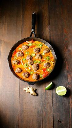 Red Thai Meatball Curry - Naked Cuisine