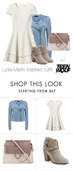 """""""Lydia Martin inspired outfit/TW"""" by tvdsarahmichele ❤ liked on Polyvore featuring Forever New, Rebecca Taylor, Chloé, rag & bone and Sydney Evan"""