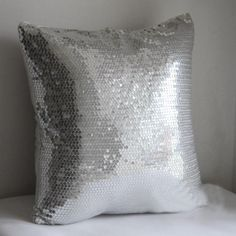 AliExpress. com. #799 New arrived promotion whole sequin front silver bedding sofa cushion cover pillow case free shipping wholesale. $10.00