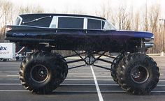 """What, This? Oh, this is just my hearse monster truck.......duh"".    (Needs more stickers)"