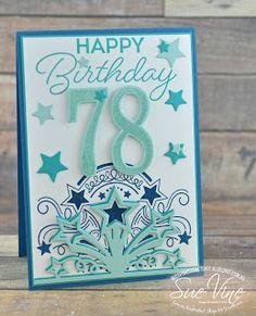 Miss Pinks Craft Spot: Birthday Blast for a special grandfather 100th Birthday Card, Birthday Blast, Cool Birthday Cards, Birthday Numbers, Handmade Birthday Cards, Birthday Wishes, Special Birthday, Card Making Inspiration, Making Ideas