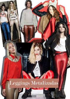 Leggings metalizadas