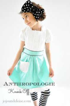 86cc5f2c21908 DIY Tutorial Clothes Refashion   DIY Anthropologie Apron knock off -  Bead Cord