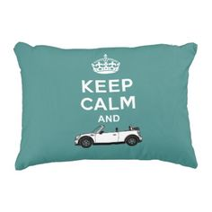 #Keep Calm Convertible Your Color Background Accent Pillow - #keepcalm