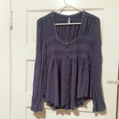 Free People Blue Bird top Never worn.  Size xs. Free People Tops Blouses