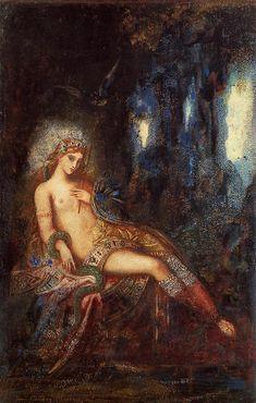 """Goddess on Rocks."" Gustave Moreau (1826-1898)."