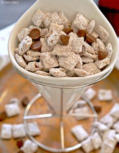 Salted Caramel Puppy Chow NEW on The Cookie Rookie