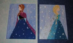 Winter Princess Anna Frozen Acrylic by TheArtDressBoutique on Etsy