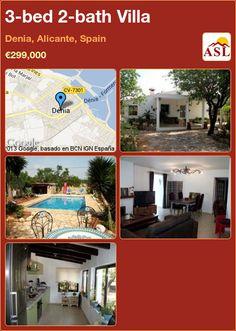 3-bed 2-bath Villa in Denia, Alicante, Spain ►€299,000 #PropertyForSaleInSpain