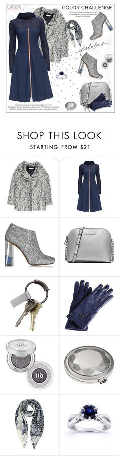"""Rock This Look: Blue and Silver"" by aurora-australis ❤ liked on Polyvore featuring Louis Vuitton, H&M, Lattori, L'Autre Chose, MICHAEL Michael Kors, CB2, Gucci, Urban Decay, Lucky Brand and Armani Jeans"