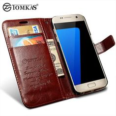 Flip Leather Case For Samsung Galaxy S7 G9300 Wallet Phone Bag Cover For Samsung Galaxy S7 Edge Cases With Card Holders TOMKAS