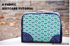 This pattern would also work well for packing cubes. Snugglebug University: Make Your Own Fabric Suitcase!
