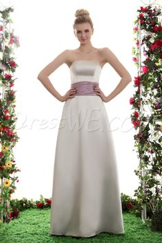 Dresswe.com SUPPLIES A-Line Strapless Floor Length Yana's Bridesmaid Dress Inexpensive Bridesmaid Dresses