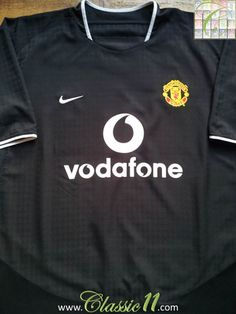 752fbca94 Relive Manchester United s 2003 2004 season with this vintage Nike away  football shirt. Vintage