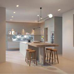 Modern Kitchen Cabinets Ideas to Get More Inspiration Dish Modern Kitchen Cabinets, Ikea Kitchen, Home Decor Kitchen, Best Kitchen Designs, Modern Kitchen Design, Interior Design Kitchen, Bulthaup Kitchen, Cool Kitchens, House Design