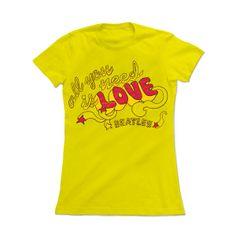 Camiseta Feminina The Beatles - All You Need Is Love