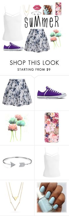 """Summer Skirts"" by rosie-gl ❤ liked on Polyvore featuring Olive + Oak, Converse, Casetify, Bling Jewelry, Sans Souci, Lime Crime and Floralskirts"