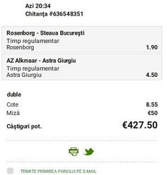 Pariuri online : Astra DA, Steaua BA! - Ponturi Bune