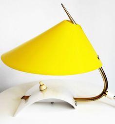 50er MID CENTURY Rockabilly Lampe Tischlampe Bedside Lamp Hoffmann Lederer  | eBay